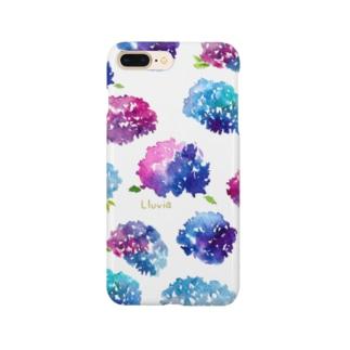 紫陽花スマホケース Smartphone cases