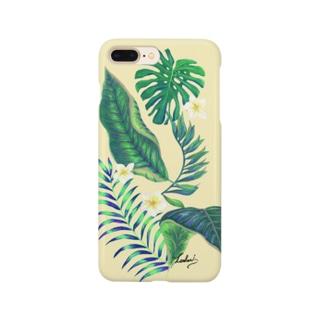ハワイアン ボタニカル ナチュラル Smartphone cases
