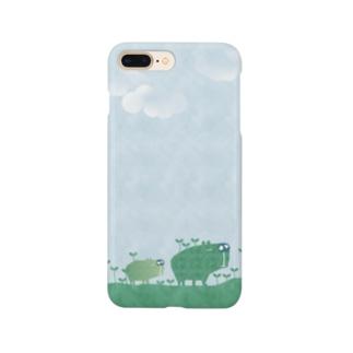 お散歩カピパラ Smartphone cases