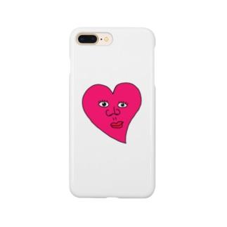 ピンクのハート Smartphone cases
