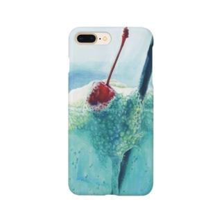 かよコーンショップのクリームソーダ Smartphone cases