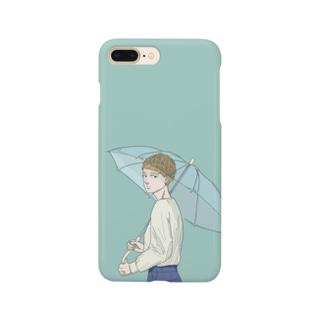 1分前まで、雨 Smartphone cases