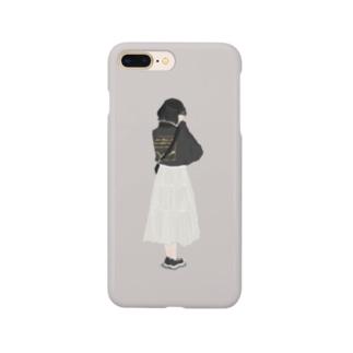 カジュアルな女の子 Smartphone cases