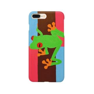 カエルキラキラ Smartphone cases