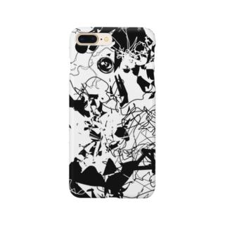 アオマキのモノクロテクスチャ Smartphone cases