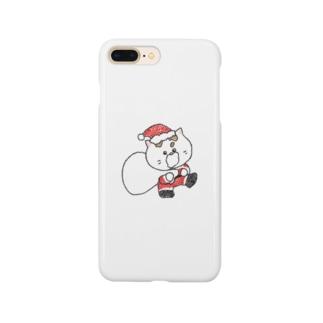 12月のシロたん Smartphone cases