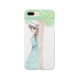 木陰で休む少女 Smartphone cases