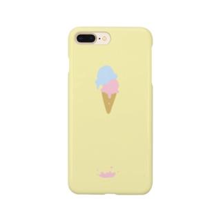 溶けたアイスクリーム Smartphone cases