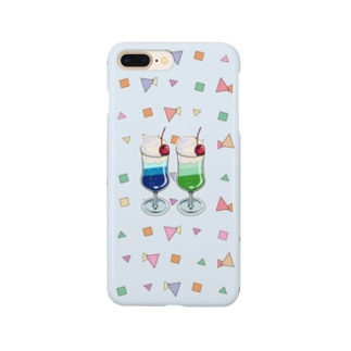 ツインソーダ(水色) Smartphone cases