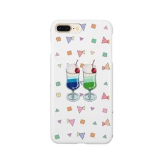 ツインソーダ(クリア) Smartphone cases