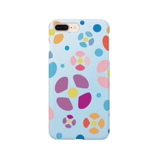 涼しげな夏の花 Smartphone cases