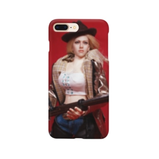 FUCHSGOLDのドール写真:ライフル銃を持つブロンドの狩人 Doll picture: Blonde hunter with type38 rifle gun Smartphone cases
