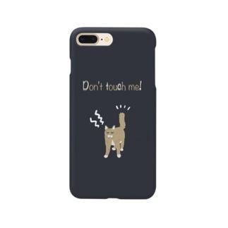 怒ってるネコさん Smartphone cases