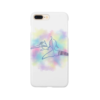 purple dolphin Smartphone cases