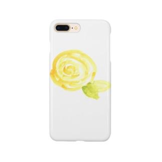 黄色のバラ Smartphone cases