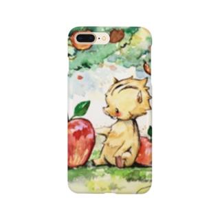 いのししとリンゴ Smartphone cases
