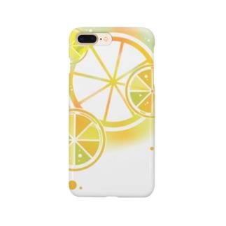 フレッシュオレンジ Smartphone cases