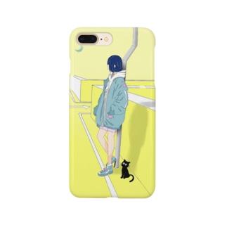"""""""誰を待ってるの?"""" Smartphone cases"""