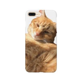 お昼寝茶トラ猫 Smartphone cases