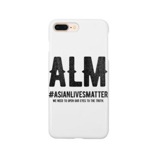 Asian Lives Matter。 黒 Smartphone cases
