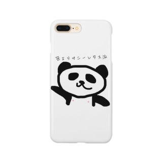 こっこの笹よりサニーレタス派のパンダ Smartphone cases