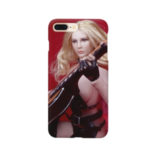 FUCHSGOLDのドール写真:ギターを弾くブロンドの美少女 Doll picture: Blonde girl with a guitar Smartphone cases