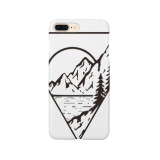 マウンテンシルエット Smartphone cases