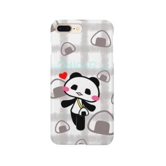 おにぎりとパンダ。 Smartphone cases