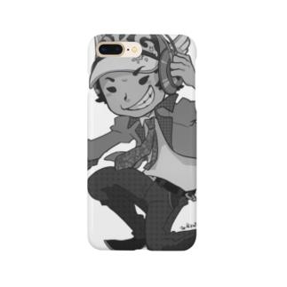 でき心。アイコンキャラクターモノクロ Smartphone cases