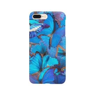 モルフォ縦 Smartphone cases