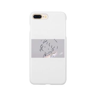 オワルウサギのソフトクリームを探す少女 Smartphone cases