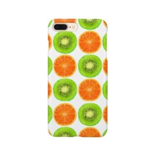 いちごパフェとか。のキウイとオレンジ Smartphone cases