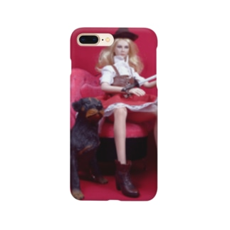 FUCHSGOLDのドール写真:刀を持つブロンド美少女 Doll picture: Blonde hunter with a dog Smartphone cases
