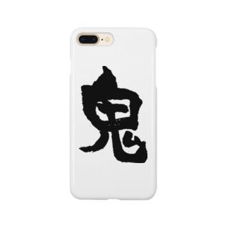 鬼(黒) Smartphone cases