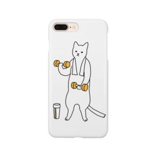 巣ごもり猫とダンベルとプロテイン Smartphone cases