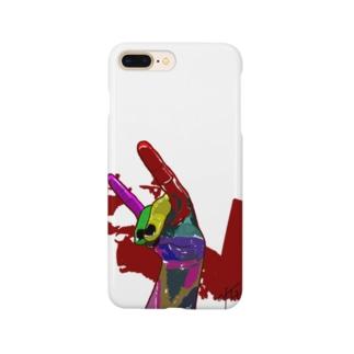 手のキツネ Smartphone cases