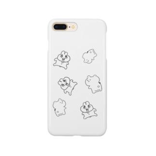 前歯🐰とプリケツ🧸 Smartphone cases