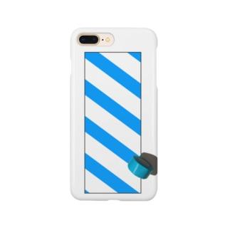 青いテープ Smartphone cases