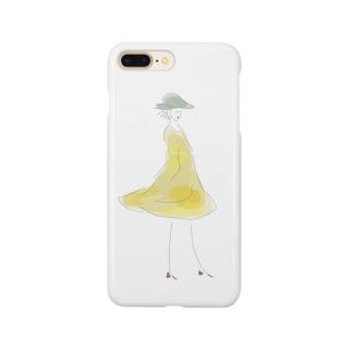 菜の花のワンピース Smartphone cases