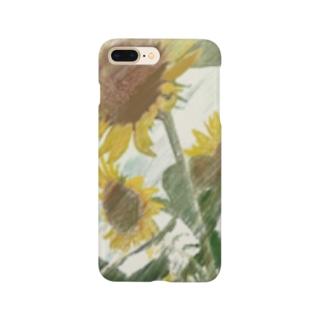 大好きなひまわり。 Smartphone cases