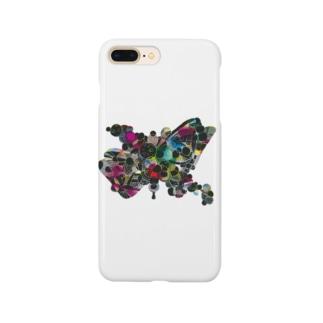 カラフル蝶々(背景透過) Smartphone cases
