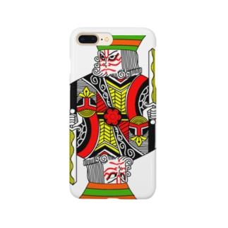 中2男子の歌舞伎メイク Smartphone cases