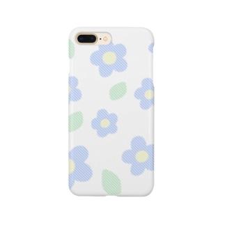 お花と葉っぱ Smartphone cases