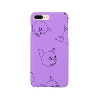 french lovedog pattern Smartphone cases