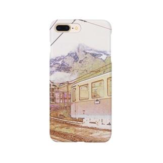 FUCHSGOLDのCG絵画:クライネシャイデックの風景画 CG art: Kleine Scheidegg Smartphone cases