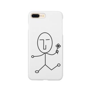 NATSUKO-SHOPのthe face ルンルン (顔) Smartphone cases