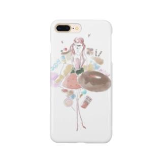 makaroni__nのsweets Girl Smartphone cases