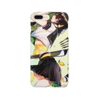 輪切りのフルーツガール🍋檸檬 Smartphone cases