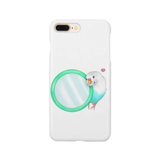 Lily bird(о´∀`о)の鏡大好きピーコちゃん① Smartphone cases
