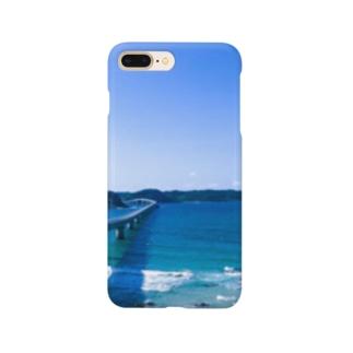 青い景色 Smartphone cases